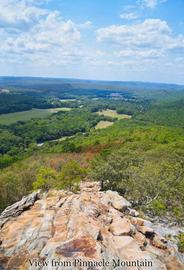 Westward view from close to the summit of Pinnacle Mountain