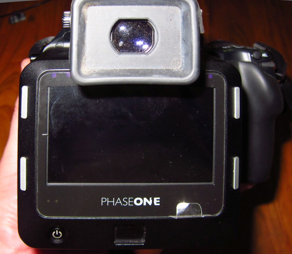Phase One IQ160 and factory LCD screen protection in place