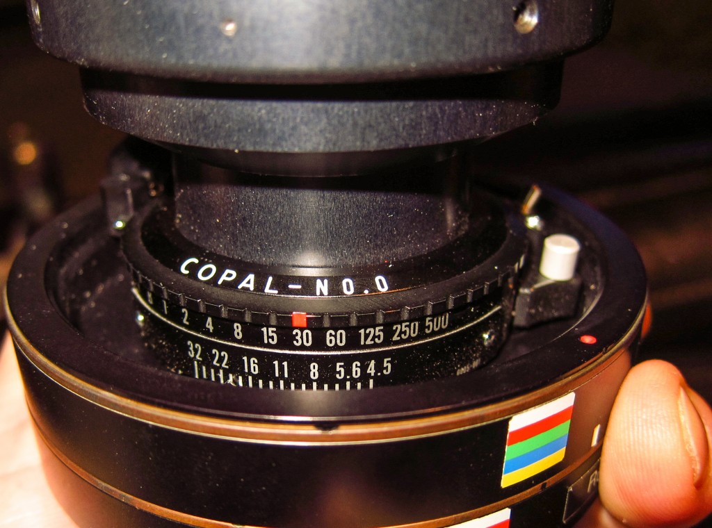 Copal shutter mounted to a Rodenstock 28mm HR lens