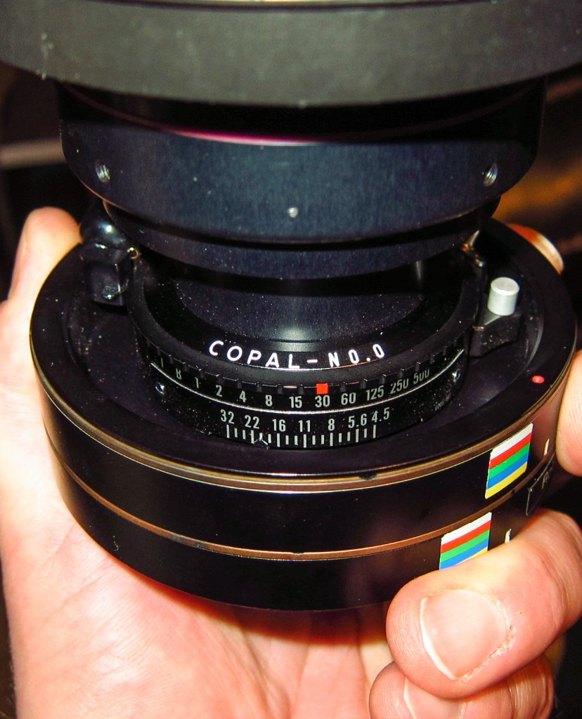 Copal Shutter mounted on a Rodenstock 28mm HR lens