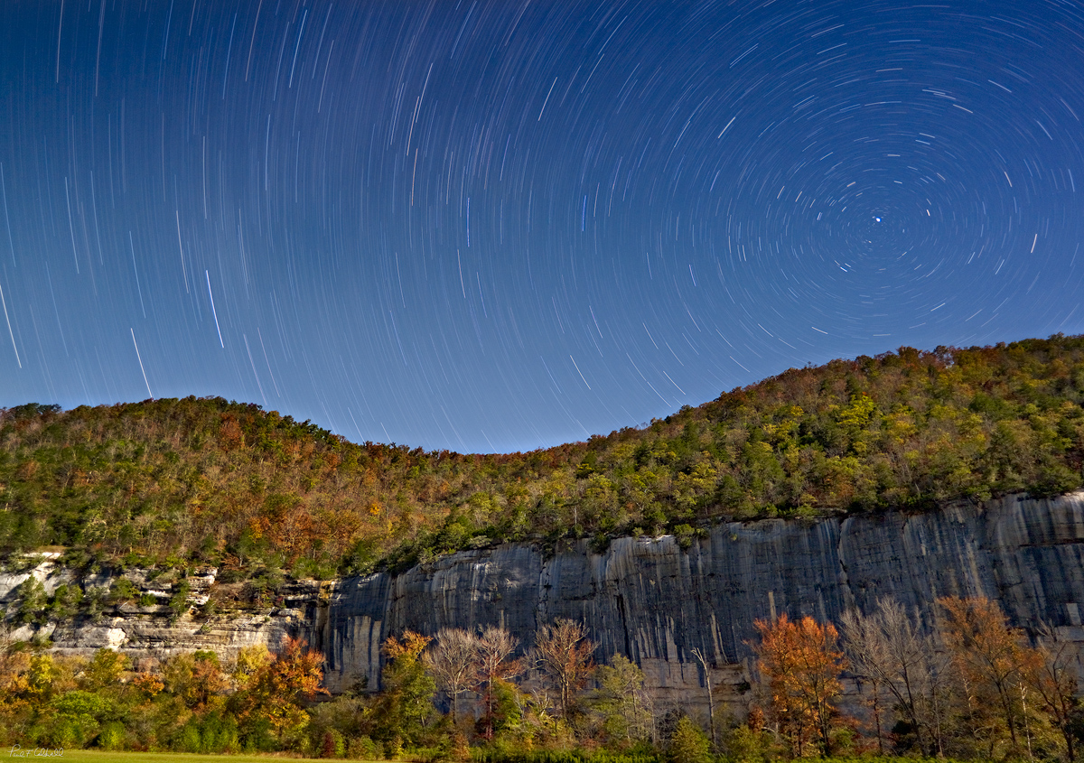 Night Skies over Roark Bluff on the Buffalo River in Arkansas