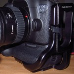 Side view of Canon 6D with RRS 5D MKII L bracket installed