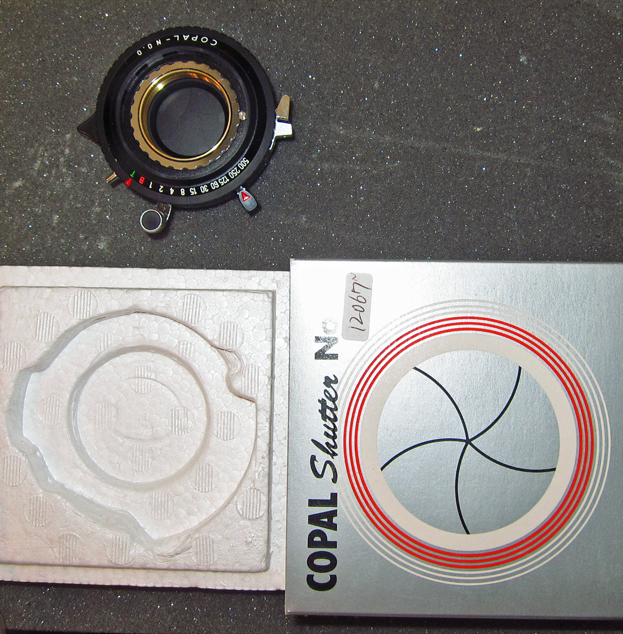 Copal shutter 0 for use with Rodenstock and Schneider lenses