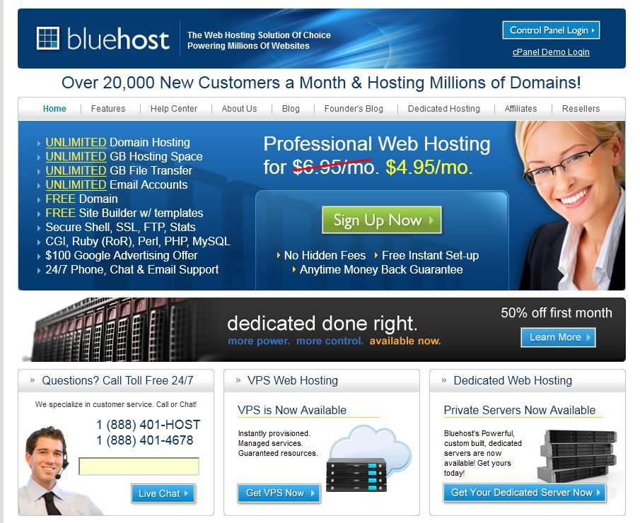 Bluehost goes down for the big one 9 hour outage