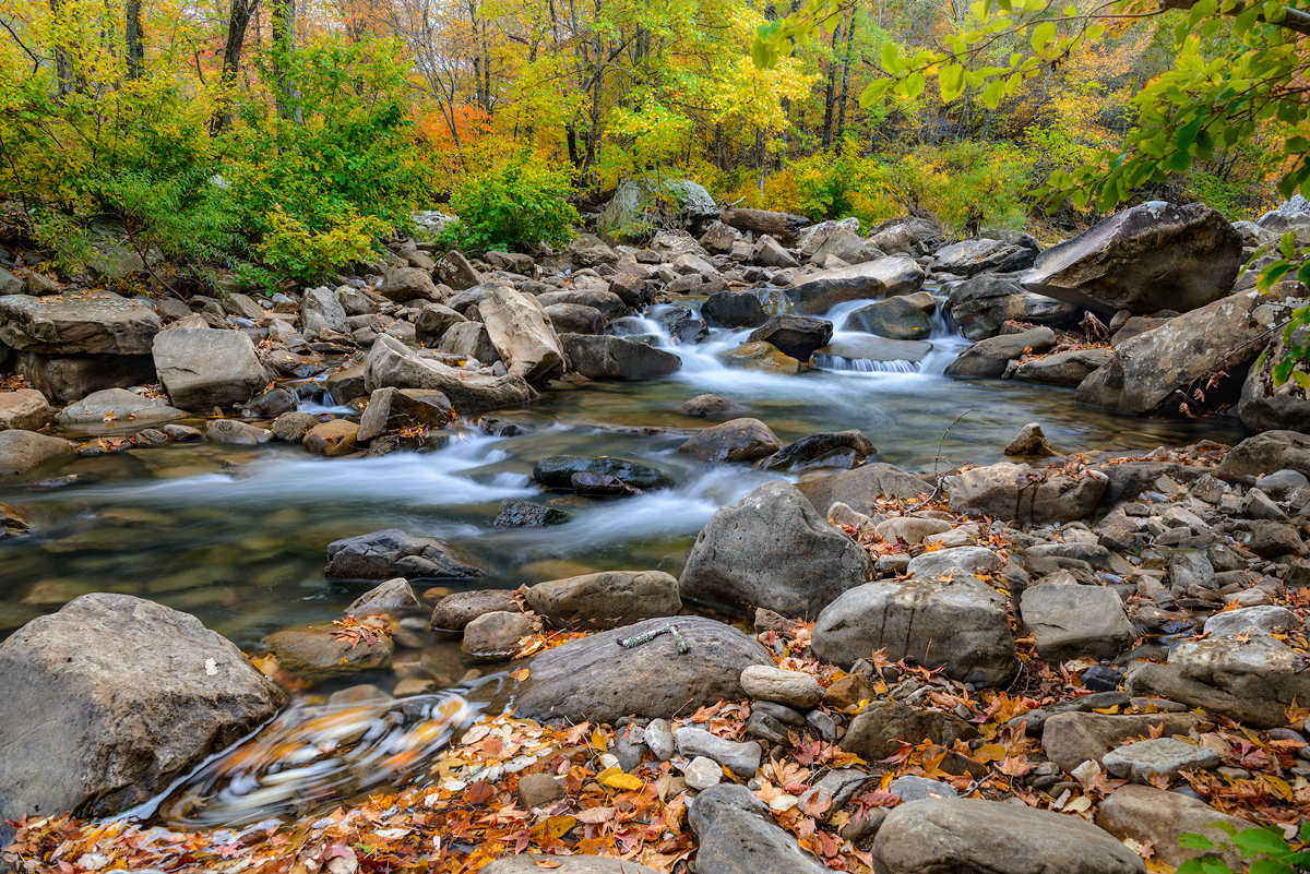 Richland creek fall in Arkansas