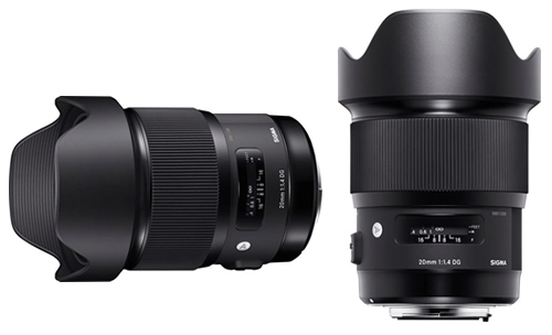 Sigma 20mm F1.4 Art Lens dual Views