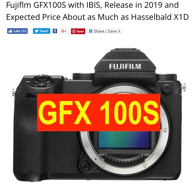 Update on follow-on camera to GFX50S